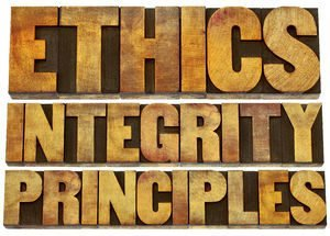 A person of ethics is principled