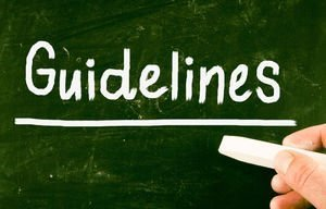 Use Principle when referring to guidelines or rules