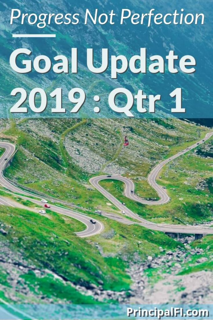 Review our 2019 first quarter progress to financial independence. Goals, net worth update, and adjustments.