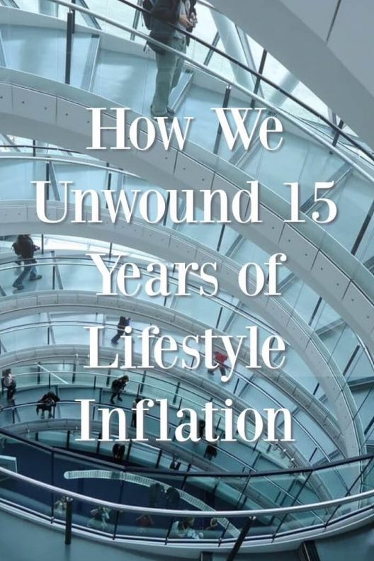 Reversing Lifestyle Inflation.  How we unwound 15 years of lifestyle inflation.