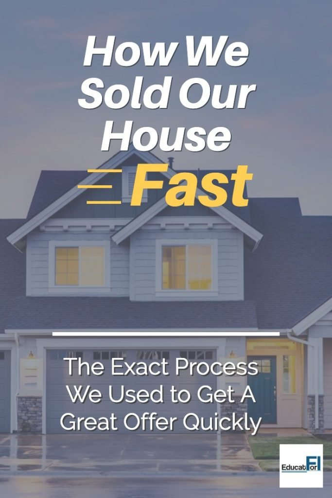 How We Sold Our House Fast.  Read about the exact offer we got to get a great offer quickly!  #sellinghousefast
