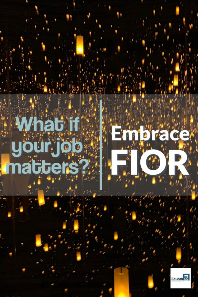 In a world of FIRE and complaints about work, what do you do if you actually like your job?FIOR (financial independence optional retirement) may be your answer. Embrace FIOR!