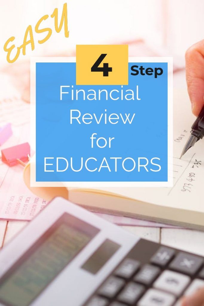 Teachers - start making financial progress with this easy back to school financial review!