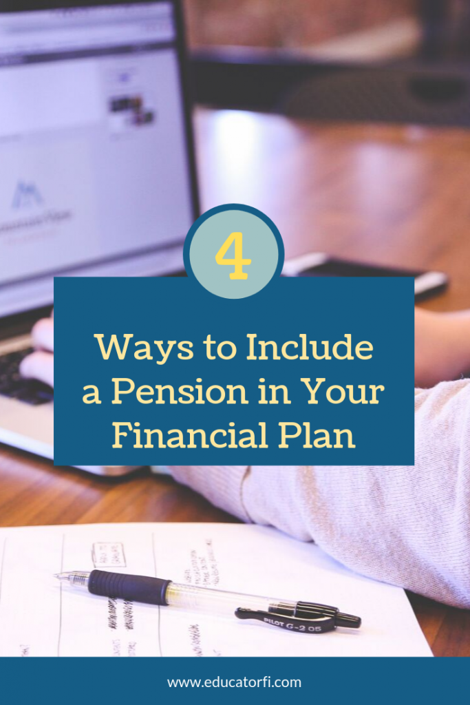 A pension is a powerful financial tool.  It can be confusing to understand and include in your retirement planning.  Here are 4 simple ways to factor it into your financial plan.