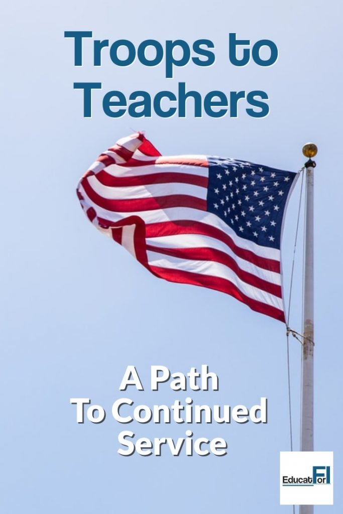 Troops to Teachers is a program supporting military members who want to become public educators.  Learn about eligibility, supports, and how to access.  Continue your service!