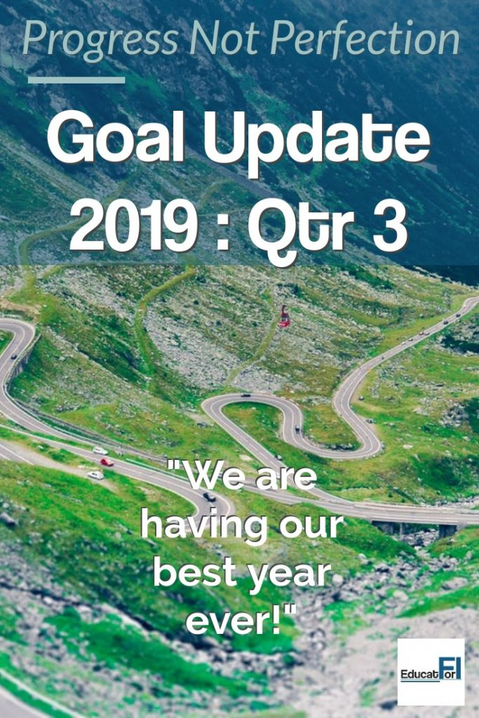 Setting and reviewing financial goals is important.  We share our quarterly progress update.