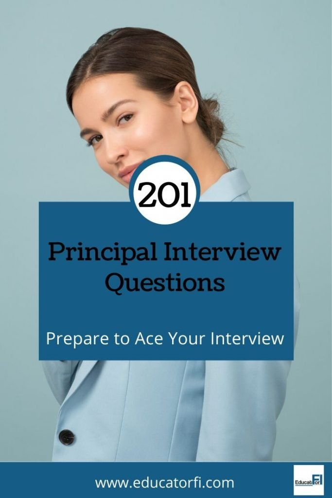 Principal Interview Questions. Prepare to ace your interview with 201 example interview questions compiled by an experienced school principal.  #principalinterviewquestions