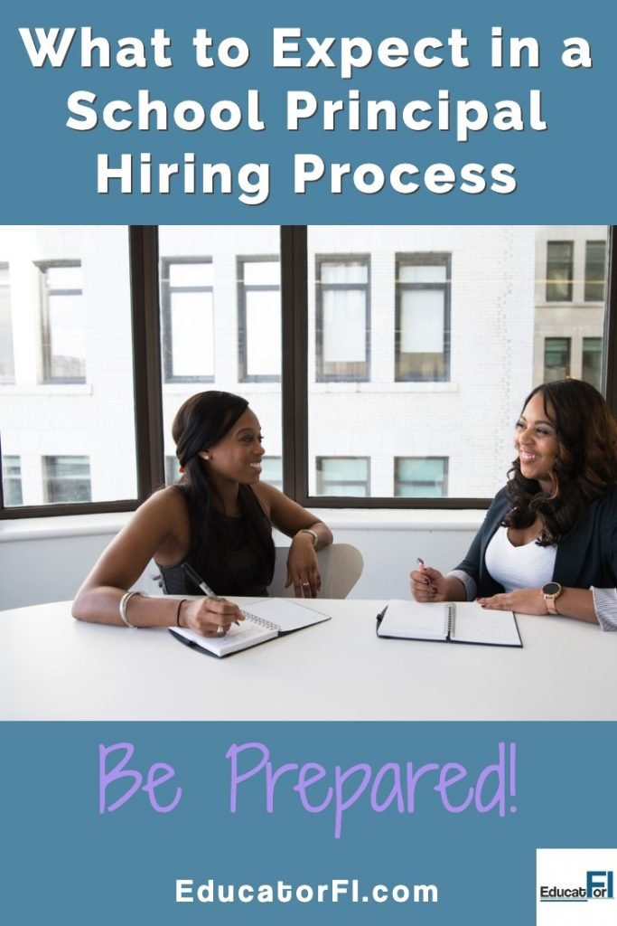 Ready to be a school principal?  Learn what to expect in the principal hiring process.  Be prepared!