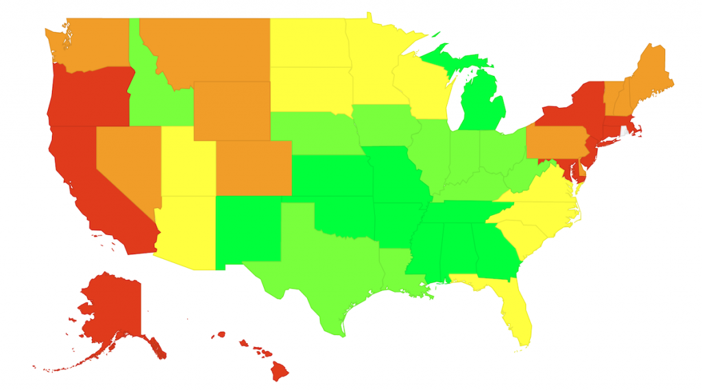 Map - Cost of Living by State