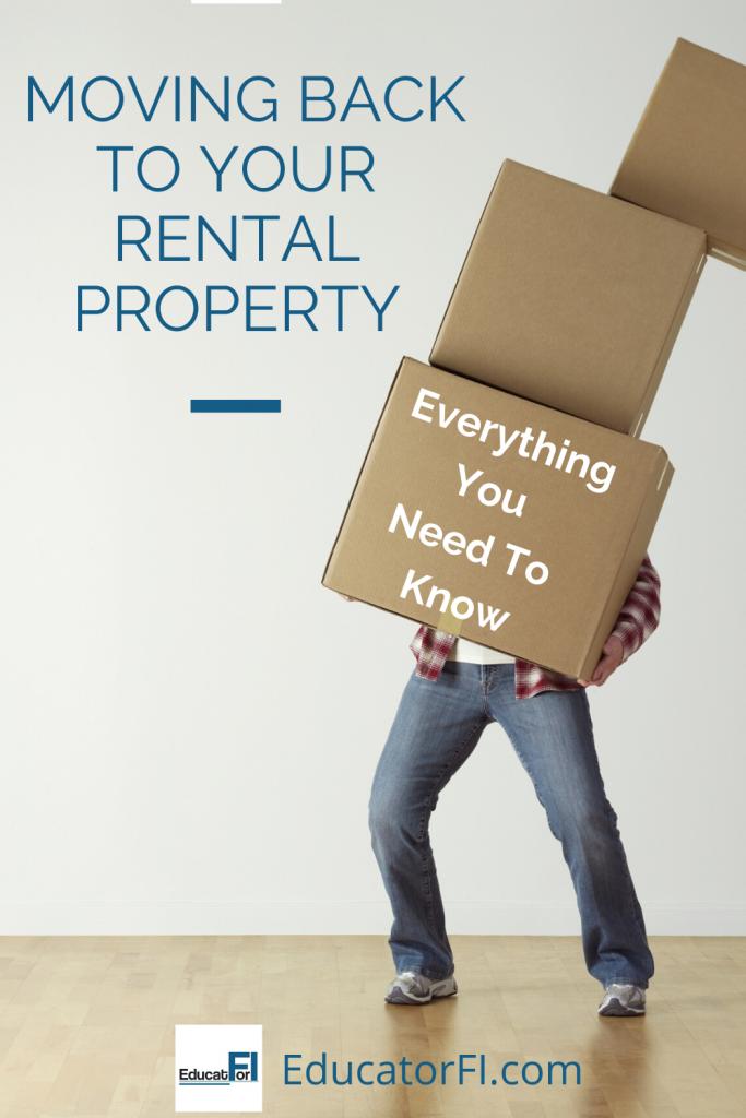 Owner Moving Back Into Rental Property