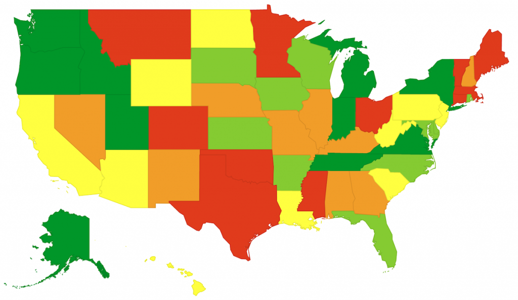 Map - Pension Ranking by State