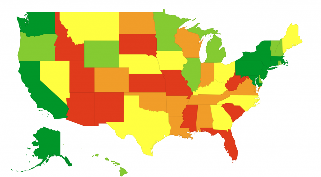 Map: Average Teacher Salary by State