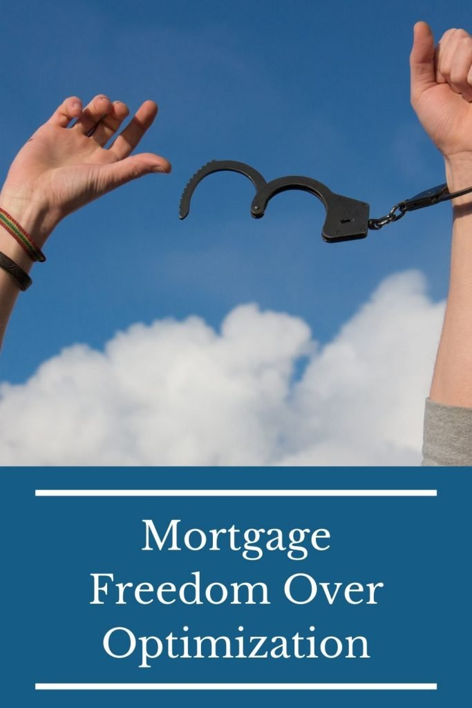 We chose mortgage freedom over optimization.  Here's why.