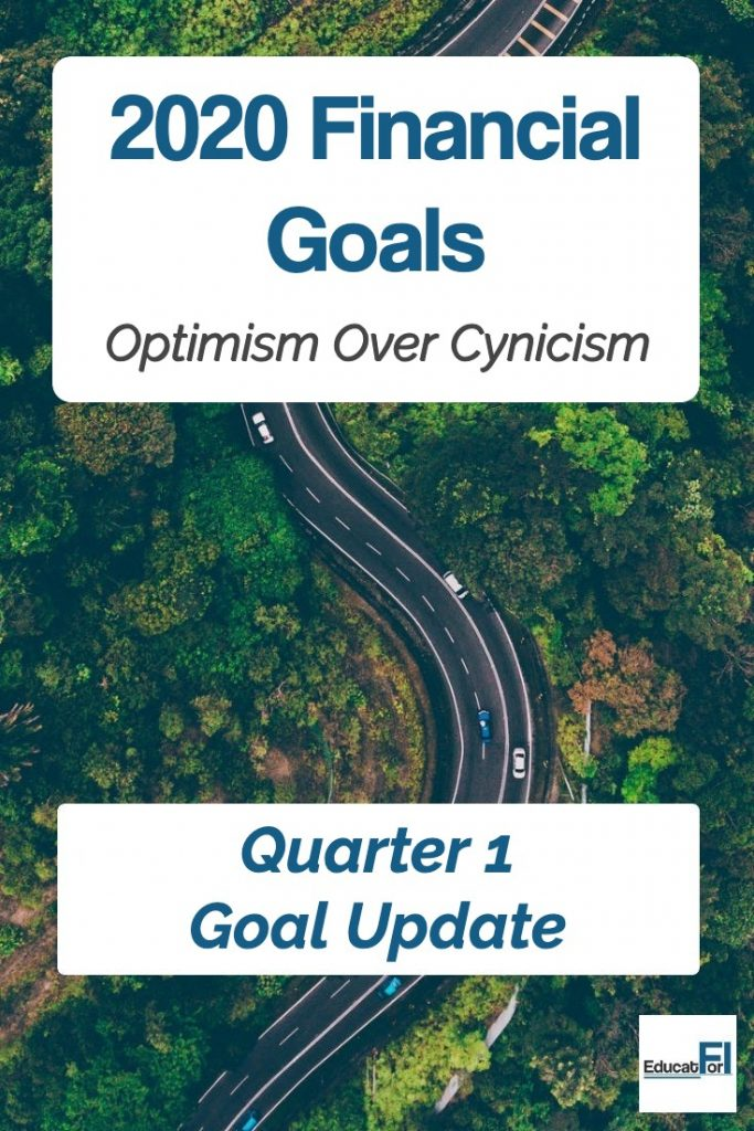 2020 Quarter 1 Financial Goals Update