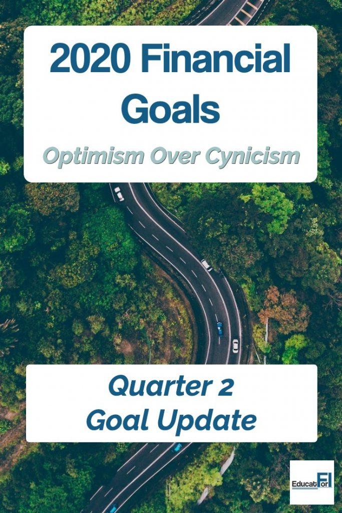 2020 Financial Goals Quarter 2 Update