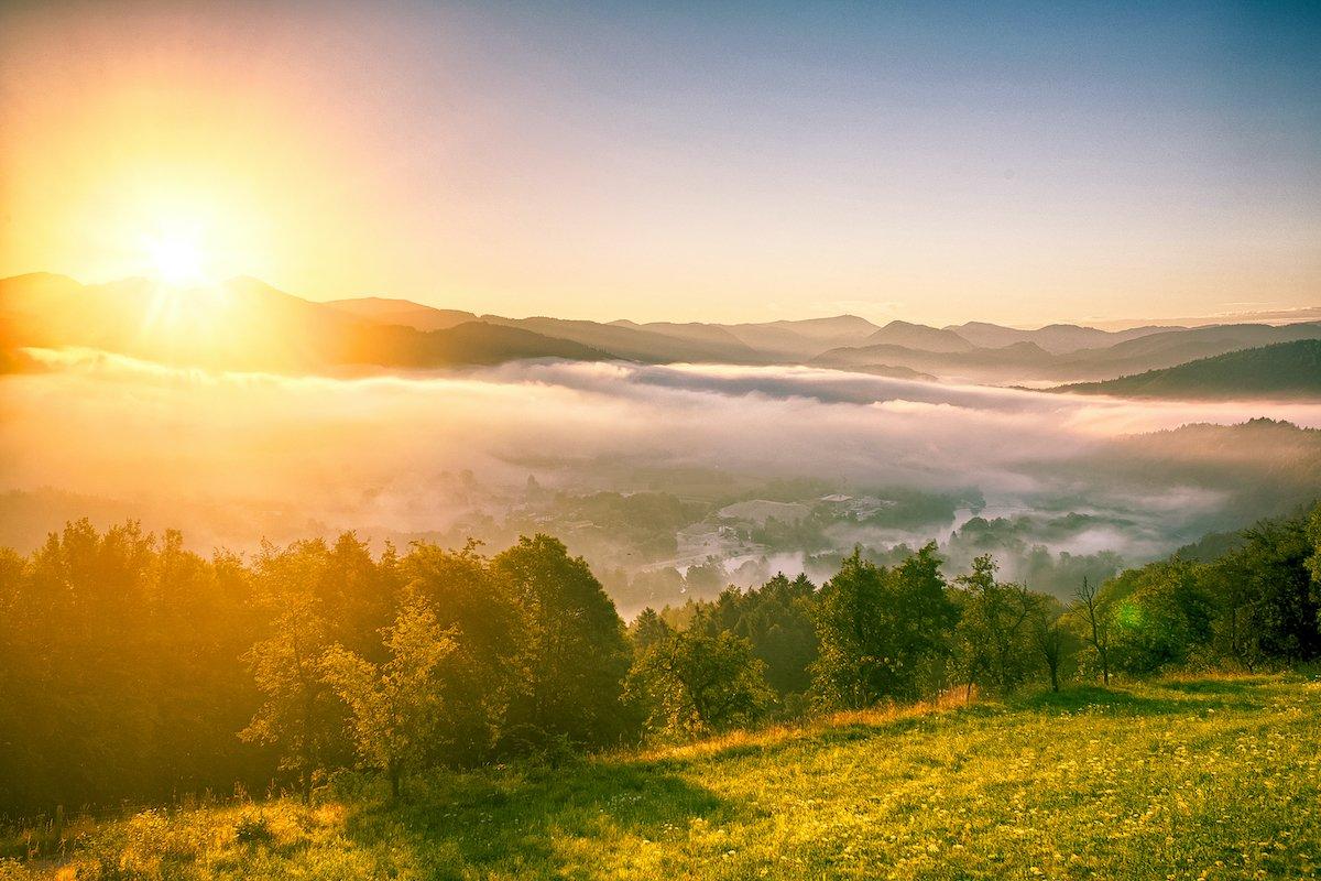 Sun Over Landscape