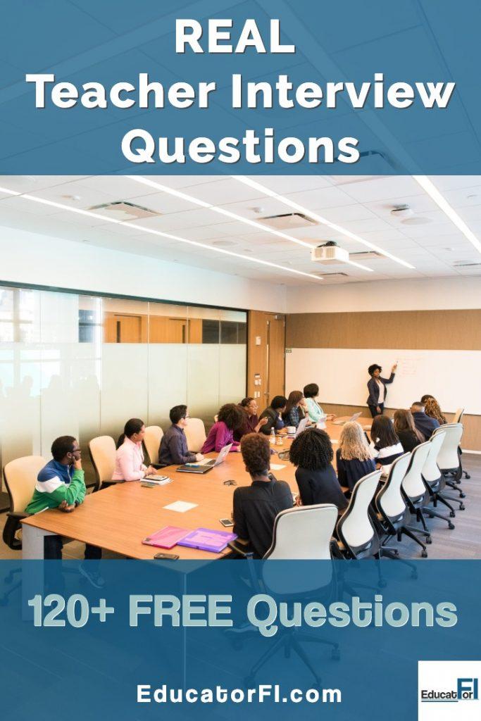 Real teacher interview questions!