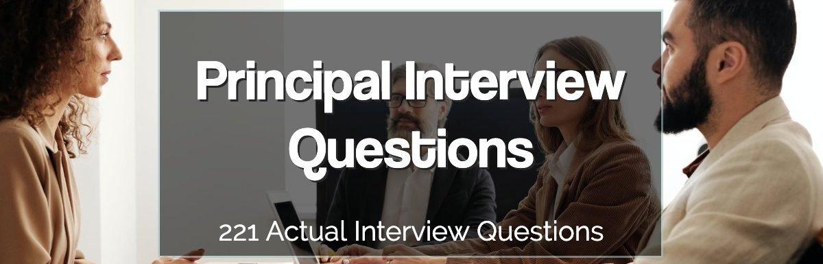 Principal Interview Questions 2021