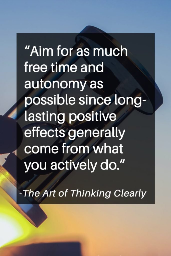 Powerful quotes from the Art of Thinking Clearly by Rolf Dobelli.